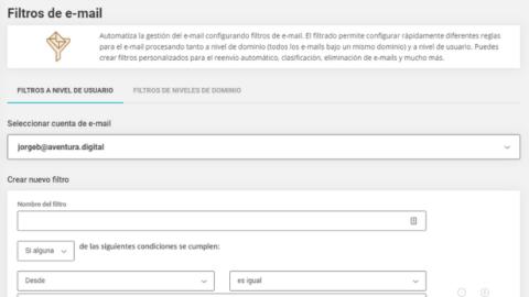 Cómo Configurar Filtros de Email con SiteGround